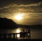 A positively great photo of a beautiful sunset over Little Beach in Nelson Bay: by homeless_harry, Views[3243]