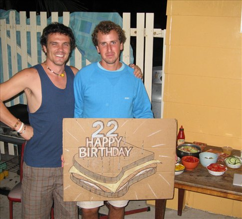 Happy toast and the sexy sandwich! Not sure how aware I was of my surroundings by this stage.