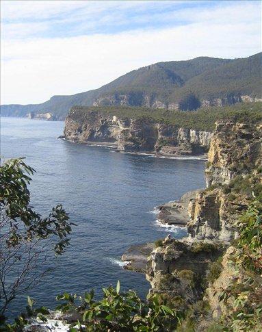Some of Tasmania's beautiful coastline en route to Port Arthur.