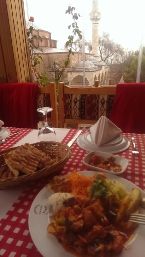 A vegetarian feast in the shadow of the Little Haghia Sophia