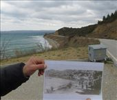 Now and then shots of ANZAC cove with a photobomb by a garbage bin.: by homeless_harry, Views[154]