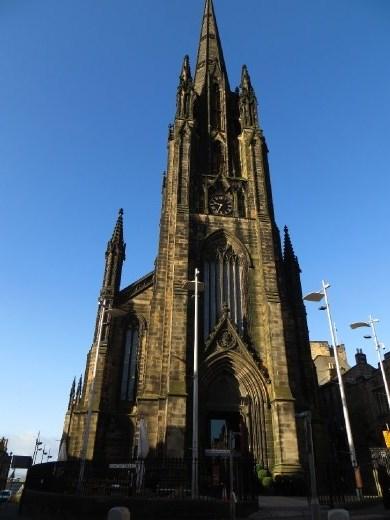 Beautiful church and even more beautiful blue sky.