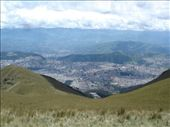 View of Quito from Pinchincha, the volcanoe that overlooks the city.  You can easily get up here by taking the telefériqo.: by homersmuse, Views[501]