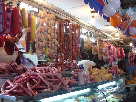 Meat market in Cuenca.