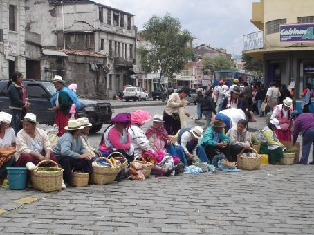 Outside the market in Cuenca.
