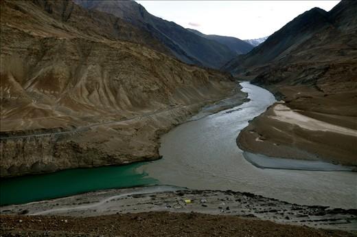 Indus and Zanskar River Confluence, Ladakh
