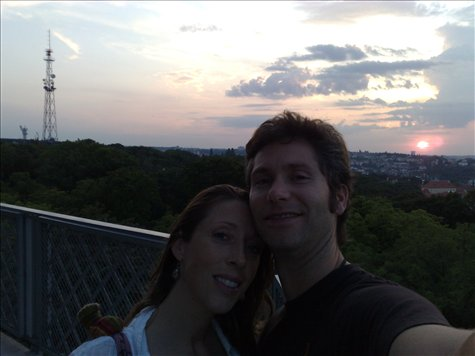 prague at sunset with sweetie