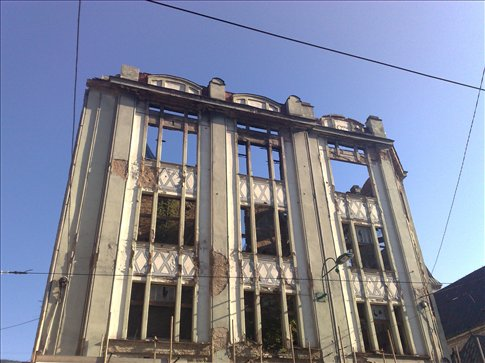 damaged building from the seige of sarajevo