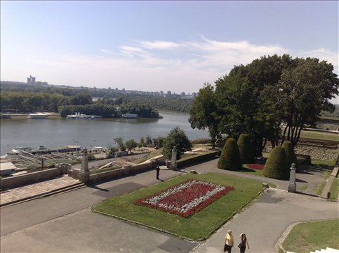 View of river from Belgrade fortress