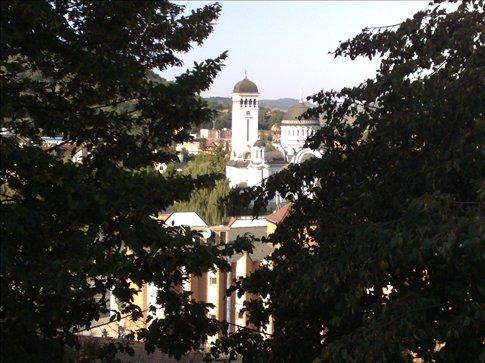 beautiful view from citadel in Sigishoara, Transylvania