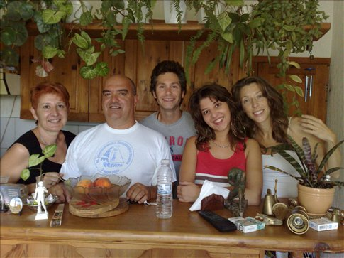 Melena's wonderful family that we stayed with in Varna.
