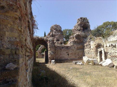very old roman bath ruins in varna