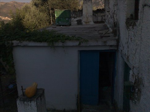 Outside George's house in Lakki, island of Crete.