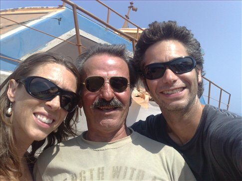 wonderful Greek friend who picked us up hitchhiking and drove us all the way up a terrible mountain road to Balos Bay.