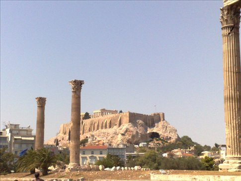 View of Acropolis, Athens.