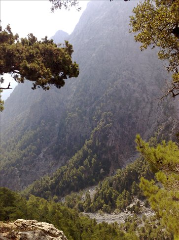 top of samaria gorge, crete