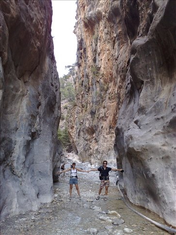 narrowest point in samaria gorge