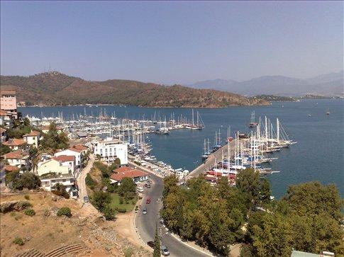 the harbor at Fethiye, Turkey on the Mediterrean coast.