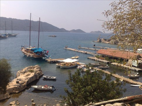 a stop at a small Turkish fishing village