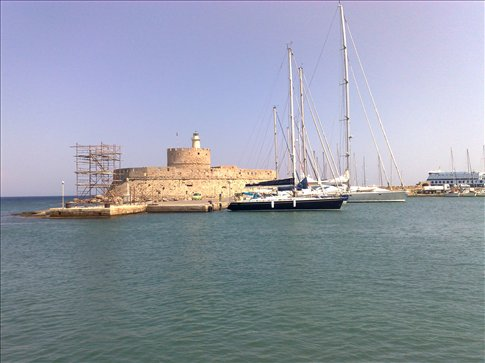 site of former 7th wonder of ancient world-Colossos of Rhodes