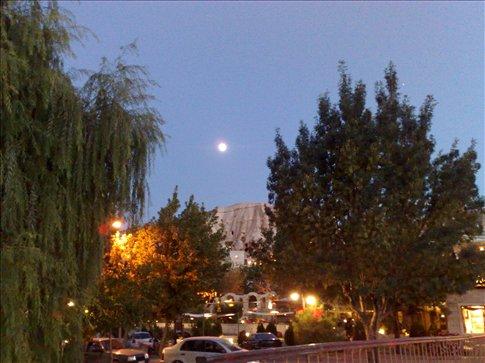 moon over Goreme, Cappadocia