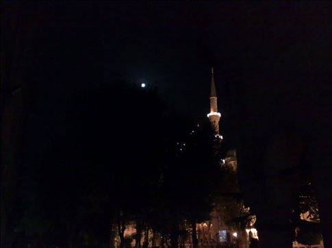 Full moon over Blue Mosque?