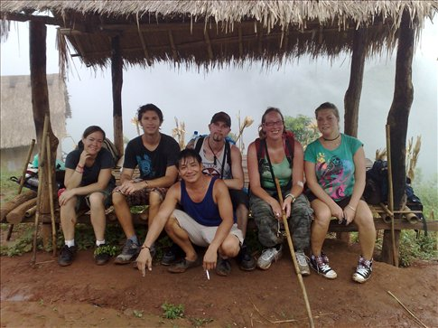 some of my trekking group at the top of the mountain