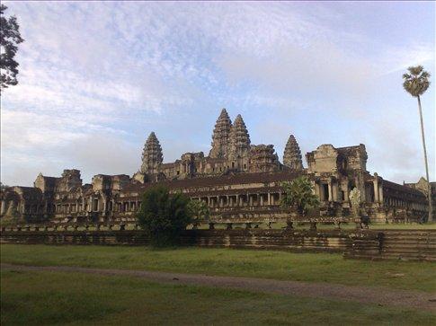 Angkor Wat at the back