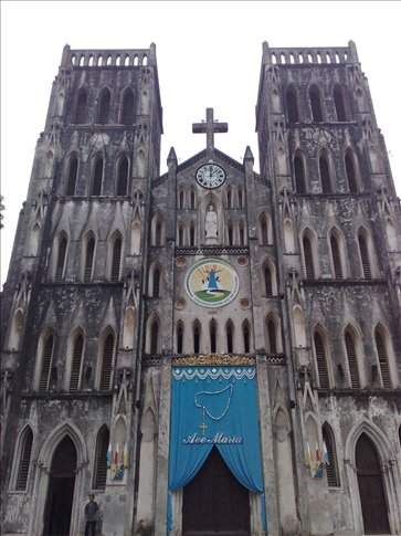 St Joseph's Cathderal, the only catholic chuch in Hanoi