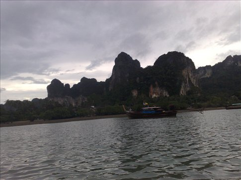 view from the longtail boat