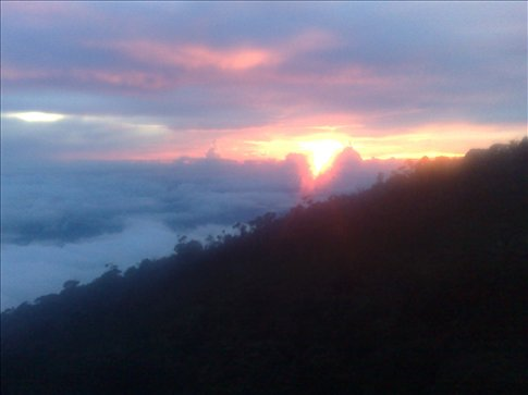 sunset at Labah Rata lodge, our first night of the climb-AMAZING!