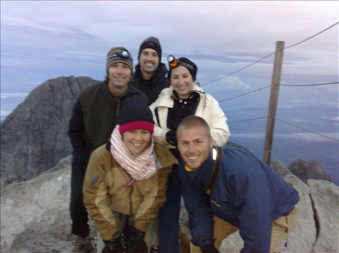 Me and my climbing friends. Lucas, Jordana and Kris (Canadians) and Chris (English) at the summit.