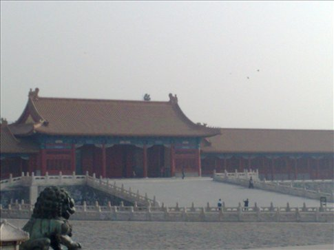 Beginning of Forbidden City-the place is absolutely enormous. Emperors from the Qing and Ming dynastys lived here