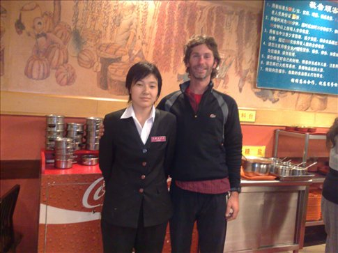 This is the manager at the hotpot restaurant I ate at. She was awesome but a bit stiff in photos!