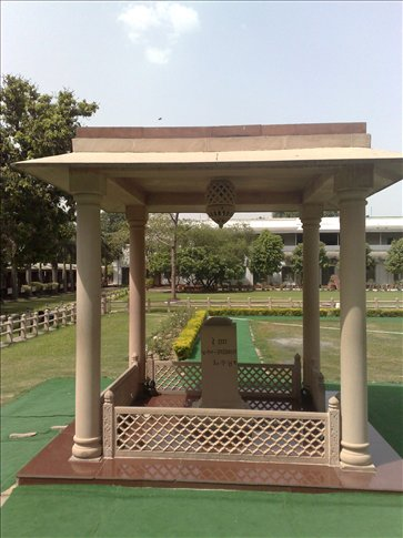 spot where Ghandi was assassinated
