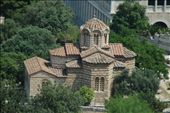 Very pretty building I saw from the Acropolis. Possibly a church.: by htapawaso, Views[211]