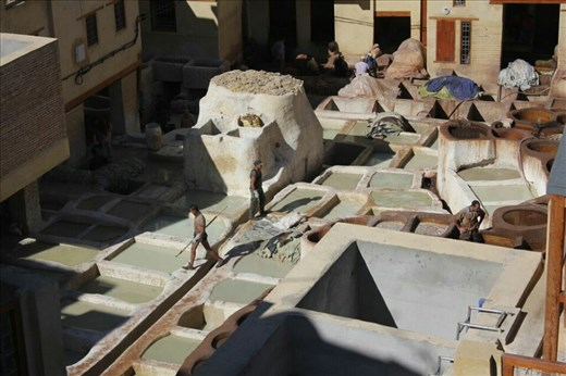 The Tanneries In Fez