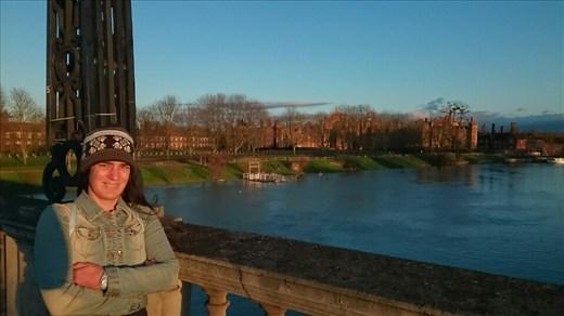 Chilling Down Outside Hampton Court Palace