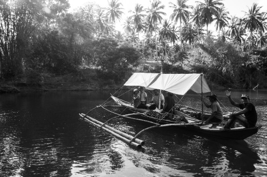 The bangka, the only transportation available to explore the beauty of Mauyon river