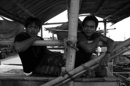 Saiful (right) and his friend were relaxing before going to the sea. His a young fisherman with dark experiences from the sea. Two times imprisoned for illegal fishing in Northern Territory, Australia, not make him stop going to be a fisherman. Fishing is the only skill he has have.