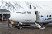 The plane from Reykjavík at Kulusuk airport.: by iano, Views[89]