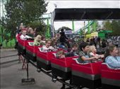 Kona and Reed (behind Kona) on the kiddy roller coaster: by iiavet, Views[285]