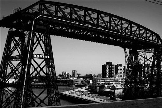 La Boca bridge, one of the most famous image of Buenos Aires