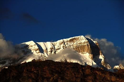 Mountain peak in garhwal region...