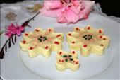 The finished product 1 - Barfi shaped into flowers.: by ishara, Views[466]