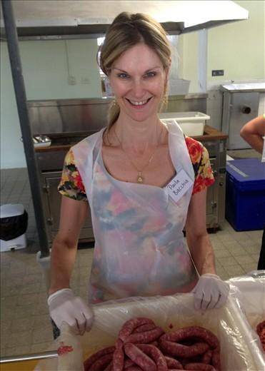 sausage making, Bonegilla 2013