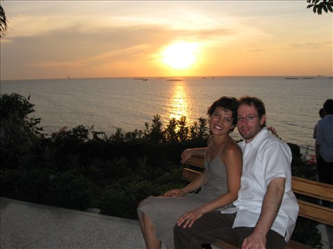 Sunset after the wedding