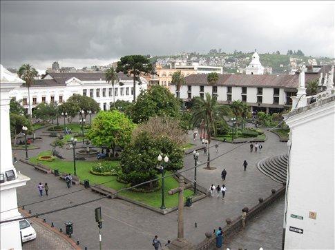 La Plaza Grande, near our hotel in Old City, Quito