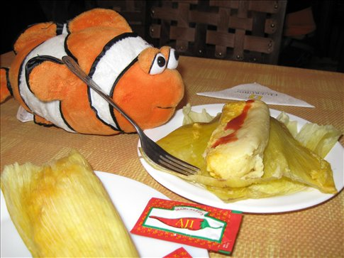 Tangelo thinks humitas are the best of Ecuador!