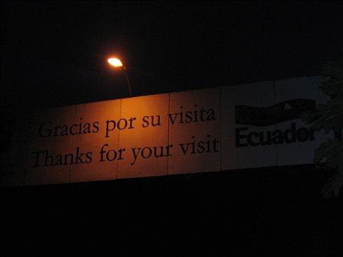Farewell Ecuador... y gracias, tambien!